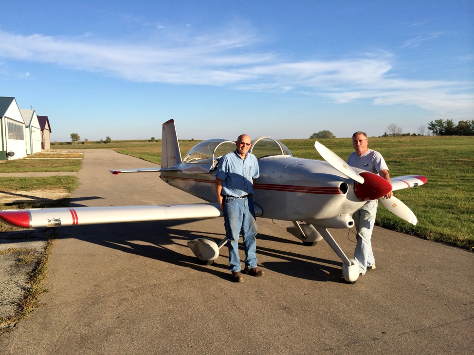Kent and Larry enjoy flying their plane